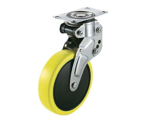 緩衝キャスター自在車 125径帯電防止ウレタン車輪 NPG125SUE2