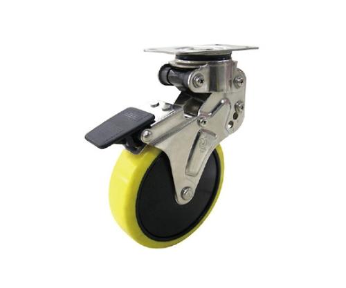 緩衝キャスターS付固定車 100径帯電防止ウレタン車輪 NPR100SUES2