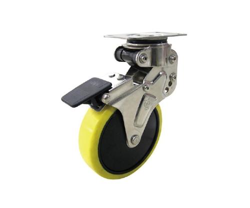 緩衝キャスターS付固定車 100径帯電防止ウレタン車輪 NPR100SUES3