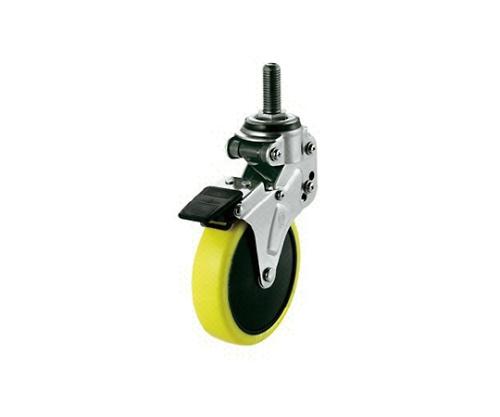 緩衝キャスターS付自在車 100径帯電防止ウレタン車輪M12 NPT100SUES2M1235