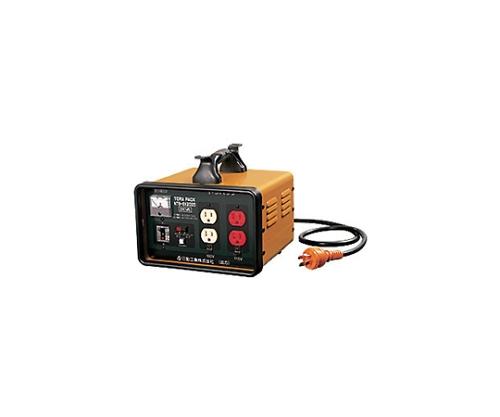 変圧器 降圧専用トラパック アース過負荷漏電しゃ断器付 2KVA