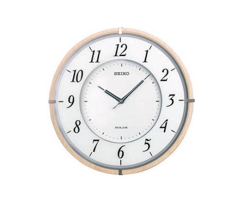 薄型ソーラー電波掛時計