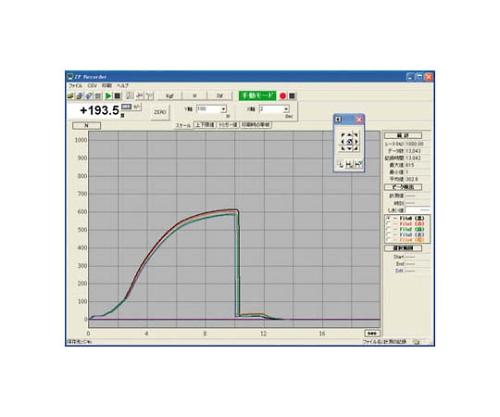 [取扱停止]USBモデル用グラフ作成ソフトウェア ZPRECORDER