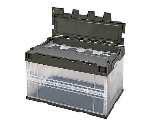 ロック付フタ一体型オリコン OC-50L 透明OD 5LRFCOD