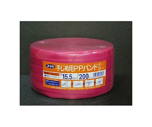 PPバンド 15.5mm×200m レッド L-204