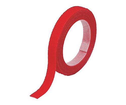 マジックバンド結束テープ 両面 幅10mmX長さ30m 赤