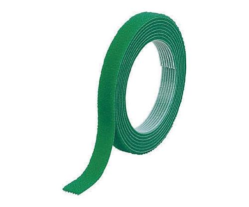 マジックバンド結束テープ 両面 幅40mmX長さ1.5m 緑 MKT-4015-GN