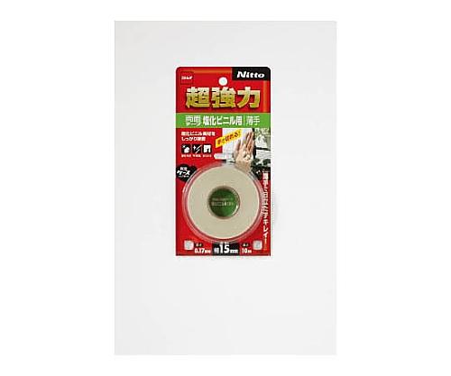 超強力両面テープ塩化ビニル用薄手15×10 T4570