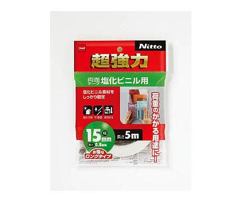 超強力両面テープ塩化ビニル用15×5 T4582