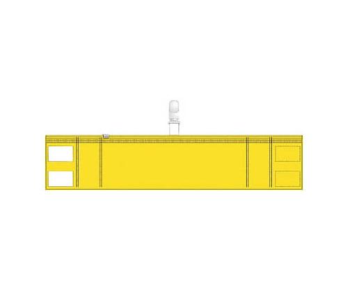 ファスナー付腕章(クリップタイプ)黄 T848-56