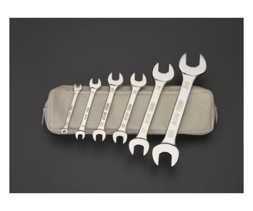 両口スパナ(ステンレス製)セット 5.5-24mm 6本組