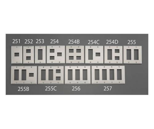 新金属プレート(4個/2列/メタル製)28.5×69.2mm,28.5×23.2mm EA940CE-254C