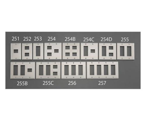 新金属プレート(7個/3列/メタル製) EA940CE-255B