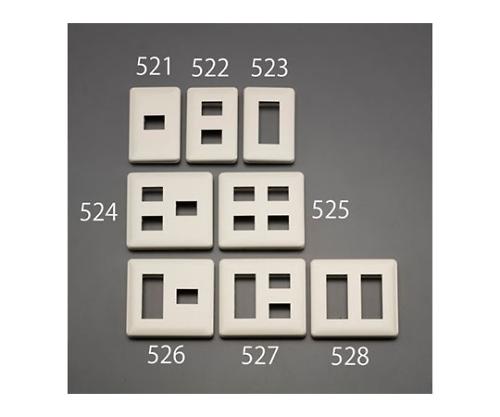 プレート(取付枠付/1個/1列)口数2 28.5×23.2mm EA940CE-522