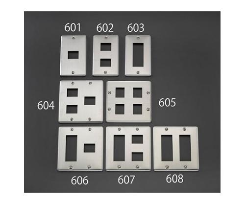 プレート(5個/2列/ステンレス製) 28.5×69.2mm,28.5×23.2mm EA940CE-607