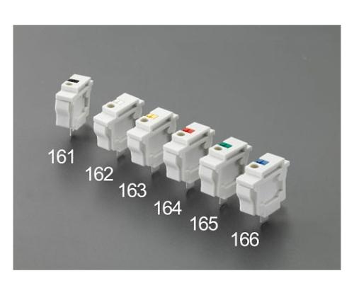 スクリューレス端子台(パネル用・連結/白) EA940DM-162