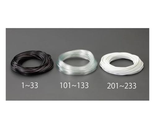 ビニール絶縁チューブ(黒) 3.0x0.4mmx20m EA944AE-1