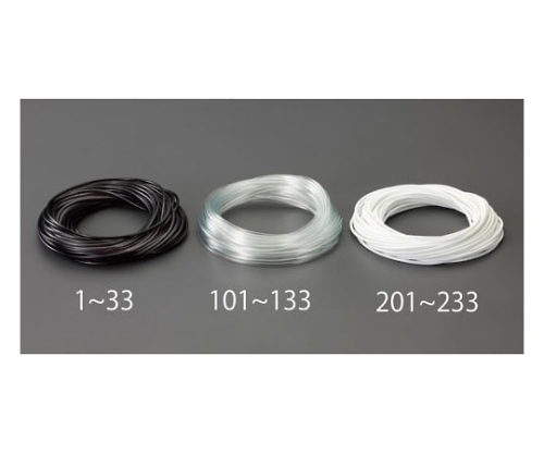 ビニール絶縁チューブ(黒) 4.0x0.4mmx50m EA944AE-12
