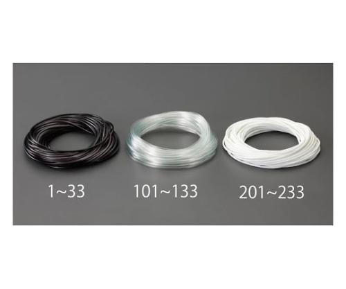 ビニール絶縁チューブ(黒) 6.0x0.4mmx100m EA944AE-33