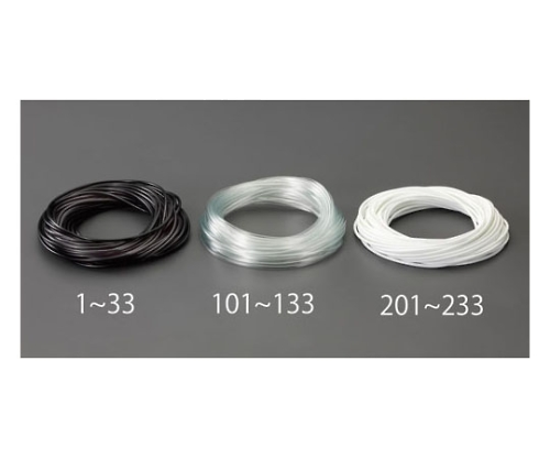 ビニール絶縁チューブ(透明 3.0x0.4mmx50m EA944AE-102