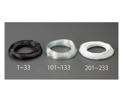 ビニール絶縁チューブ(透明 4.0x0.4mmx20m EA944AE-111