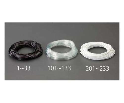 ビニール絶縁チューブ(透明 6.0x0.4mmx50m EA944AE-132