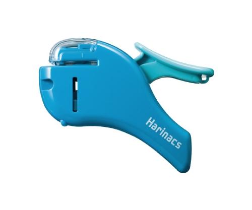 針なしステープラー<ハリナックス> (コンパクトアルファ) 約5枚 青