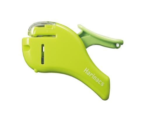 針なしステープラー<ハリナックス> (コンパクトアルファ) 約5枚 緑