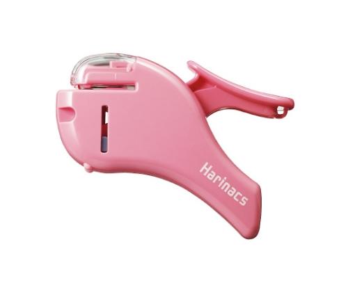 針なしステープラー<ハリナックス> (コンパクトアルファ) 約5枚 ピンク
