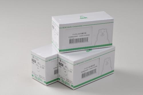 Eカット針付縫合糸 E12G04H-45