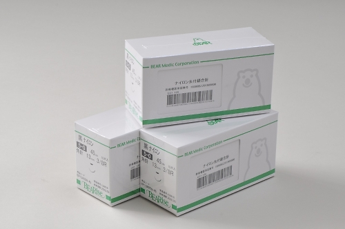 Eカット針付縫合糸 E13A05H-45
