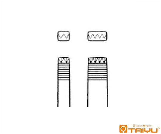 アドラークロイツ型多爪鑷子 9爪 併式 ダボ無 全長15cm TY-021S