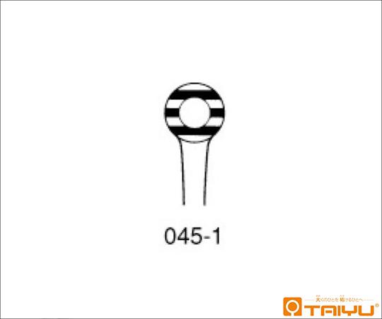 リンパ線鑷子 筋入 併式 ダボ無 径7mm 全長23cm TY-045-1