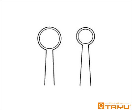 小川トラコーマ鑷子 併式 ダボ付 径6mm 全長10cm TY-063S