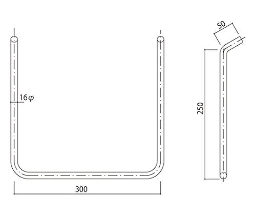 タラップ ステンレス丸鋼 SST-16-300x250