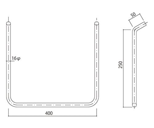 タラップ ステンレス丸鋼 SST-16-400x250