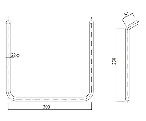 タラップ ステンレス丸鋼 SST-22-300x250
