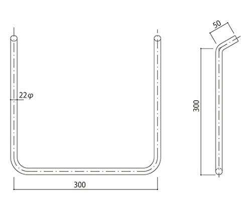 タラップ ステンレス丸鋼 SST-22-300x300