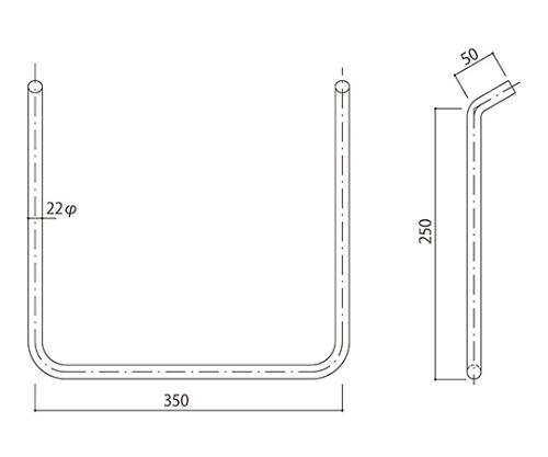 タラップ ステンレス丸鋼 SST-22-350x250