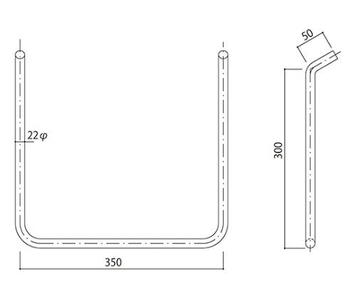 タラップ ステンレス丸鋼 SST-22-350x300