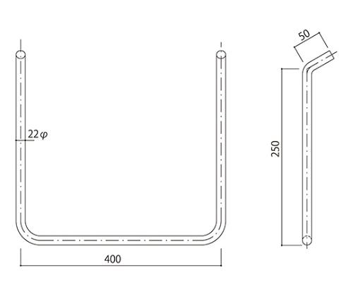 タラップ ステンレス丸鋼 SST-22-400x250