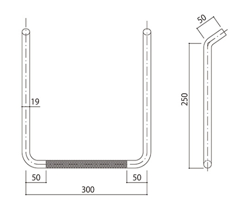 タラップ (ローレット加工) SST-19R-300x250