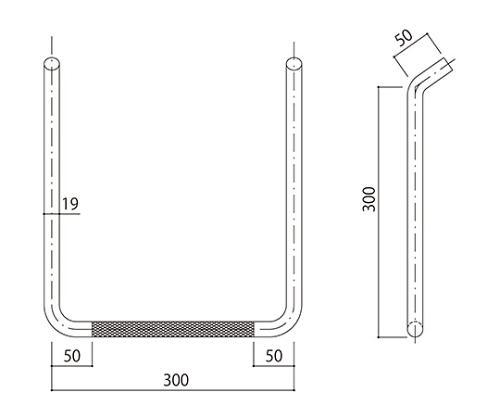 タラップ (ローレット加工) SST-19R-300x300