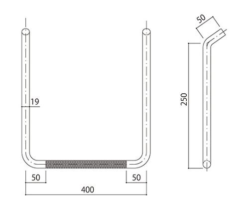 タラップ (ローレット加工) SST-19R-400x250