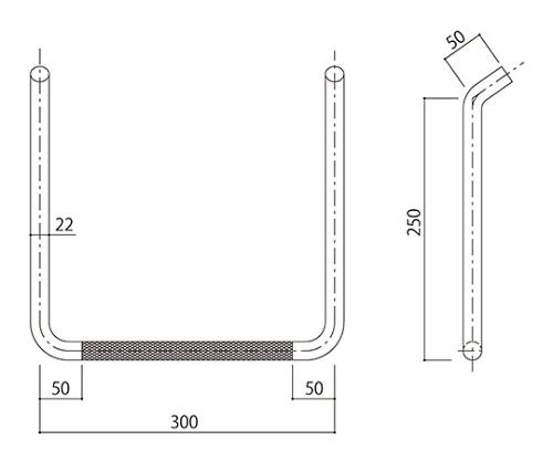 タラップ (ローレット加工) SST-22R-300x250