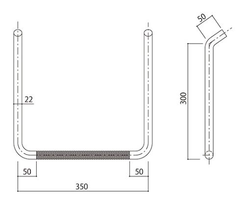 タラップ (ローレット加工) SST-22R-350x300