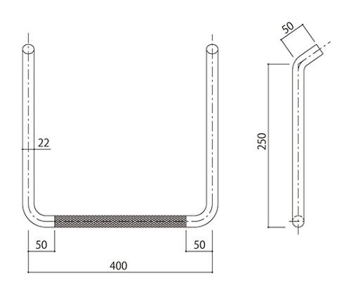 タラップ (ローレット加工) SST-22R-400x250