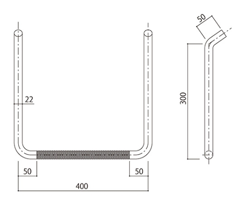 タラップ (ローレット加工) SST-22R-400x300