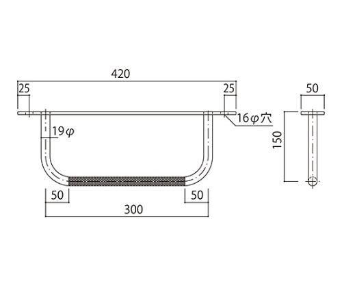 タラップ (後付用・ローレット加工) SST-19RAT-300x1 SST-19RAT-300x1