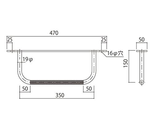 タラップ (後付用・ローレット加工) SST-19RAT-350x1 SST-19RAT-350x1